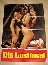Die Lustinsel - KINOPLAKAT - SEXY  BUSTY BOOBS