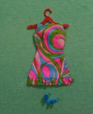Vintage Barbie Doll Clothes - MOD Era Barbie 1822 Swirly-Que Dress with Shoes