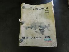 New Holland Ford 2000 Baler Operator's Manual