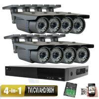8CH 5-in-1 DVR 2.6MP 4-in-1 All-in-one Security Camera System TVI AHD 72IR hy76