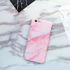 Simple White Granite Marble Glossy Soft Gel Phone Case for iPhone X 6 6S 7 8Plus