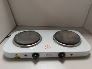 Kitchen Perfected 2000W Portable Double Hotplate Full Working Order F3