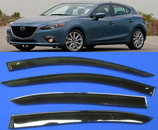 car smoke Mazda 3 sd hb TINT WINDOW VISOR SHADE/VENT WIND/RAIN DEFLECTOR 13-