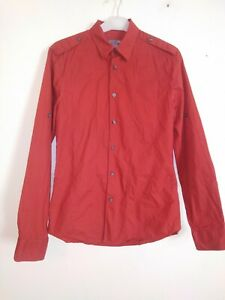 H&M Red Button Up Long Sleeved Shirt Size S
