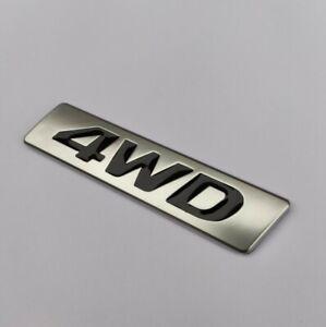 4WD Noir Argent Alliage Métal Badge Emblème Ssangyong Musso Rexton Korando SUV