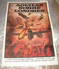 1970 AGUILAS SOBRE LONDRES 1 SHEET MOVIE POSTER WAR FILM NICE PAINTED ARTWORK