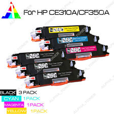 6PK CE310A Black Color Toner Cartridge for HP 126A LaserJet Pro M175nw CP1025nw