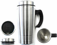 New 16OZ Stainless Steel Coffee Cup with Handle Insulated Thermos Travel Mug