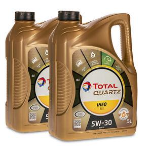 10 (2x5) Liter TOTAL QUARTZ INEO ECS 5W-30 Motoröl PEUGEOT CITROEN B71 2290