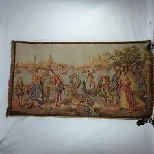 Antique Belgium Tapestry Romantic Couple Scene