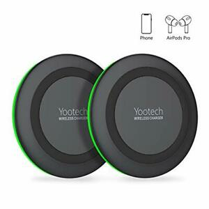 Yootech [2 Pack] Wireless Charger,Qi-Certified 10W Max wireless Charging Pad