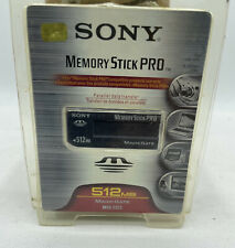 Sony 512mb Memory Stick PRO Flash Media MS Pro (MSX-512S) (pp)