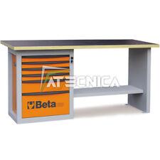 Banco da lavoro con cassettiera 6 tiretti Beta C59A Orange piano in legno 1500Kg