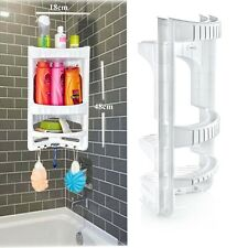 3 Tier Plastic Corner Shower Caddy Bath Storage Shelf Rack Basket Organiser Tidy