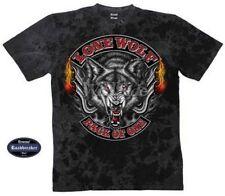 Wolf Kurzarm Herren-T-Shirts mit Rundhals-Ausschnitt
