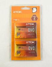 NIP TDK DVC Camcorders 60 MiniDV Digital Video Cassette Tapes Lot 2 Sealed