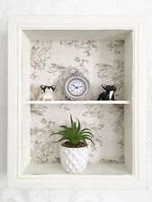 Shabby Chic Wall Shelf Unit Cupboard Off White Vintage Display Cabinet Storage