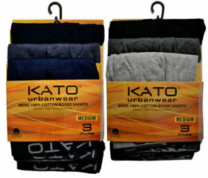 KATO URBAN WEAR STRETCH BOXER SHORTS/ STRETCH TRUNKS ASSORTED COLOURS
