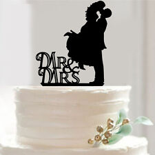 Acrylic Mr & Mrs Bride and Groom Wedding Love Cake Topper-SUP27002