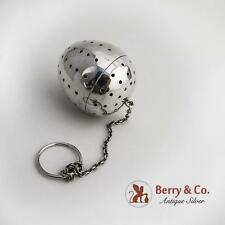 Egg Form Tea Ball Sterling Silver Gorham Silversmiths 1920