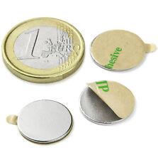 Super Magnete Disco in Neodimio AUTOADESIVO 15 x 1 mm. 650 gr. COLLA 3M (467)