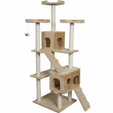 """Goplus 73"""" Cat Kitty Tree Tower Condo Furniture Scratch Post Pet Home Bed Beige"""