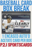 Topps 2020 Clearly Authentic Series Box Break - 1 Random Team⚾️MLB⚾️Break 2995