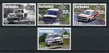 Barbados 2017 MNH Motorsports Motorsport Toyata Subaru 4v Set Cars Stamps