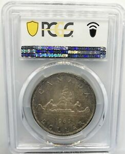 1963 Canadian Silver Dollar $1 PCGS MS-65