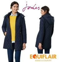 Joules Womens Chatham Longline Padded Jacket with Removable Hood - AW19