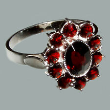 Bohemian Rose Cut Garnet Sterling Silver Ring # SR-018 with Jewelry Certificate