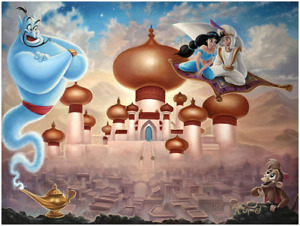 Disney Fine Art Limited Edition Canvas A Whole New World-Aladdin-Jared Franco