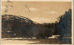 Winter View Intervale NH 1920 RPPC Vintage Postcard PBA