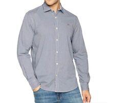 69#Napapijri Men's Gerrington Casual Shirt, Blue size XL