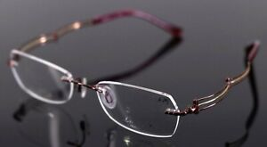 LINE ART By Charmant XL2003 RE Red Oval Womens Rimless Eyeglasses 51-19-135