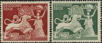 Stamp Germany Mi 816-7 Sc B206-7 1942 WW2 Fascism Goldsmith Nuremberg MNH