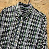 Mens GANT Long Beach Poplin Check Long Sleeve Shirt Size L Large Regular Fit