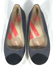 FITFLOP Due Canvas French Navy Ballet Flat Women's Shoes EU 38/US 7 Retail $114