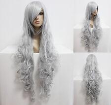 Ladieshair Wig Perücke Silber Grau 90cm lang Angel Sanctuary Rosiel Cosplay GTC