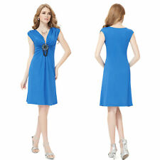 Regular Size Solid Polyester Shift Dresses for Women