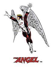 Vintage Marvel Style Guide Print - X-MEN ANGEL Warren Worthington