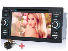 """Rückfahrkamera+ 7"""" Autoradio GPS NAVI DVD BT Für Ford C-max Connect Focus S-max"""