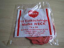 10 Stück Weck ®  Einkochringe 80mm /Gummiringe /Einkochgummies /Einweckgummies