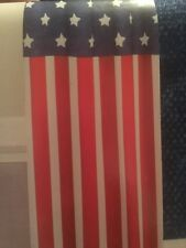 Celebrate Americana Together Stars & Stripes USA Flag Fabric Shower Curtain