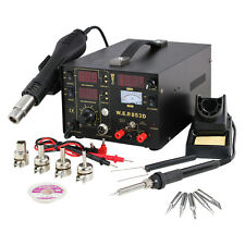 NEW 3-in-1 853D Rework Soldering Station Air Gun Solder Iron DC Power Supply Set
