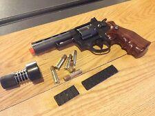 "WG-701B Win-Gun 4""-inch Airsoft CO2 Gas Metal Revolver Pistol m9 w/ Shells NIB"