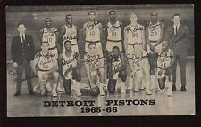 1965/66 Detroit Pistons NBA Team Card