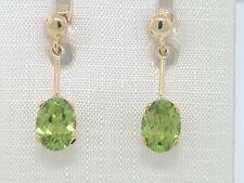 Peridot Ohrhänger 585 Gelbgold 14Kt Gold natürlicher facettierter Peridot