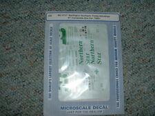 Microscale HO  decals MC-4157 Burlington Northern Trinity Ind. 67' Box Car  DDD