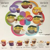 Tassimo Variety 12 Cups Taster Box Pack Jacobs Latte Cappuccino Milka Coffee Pod